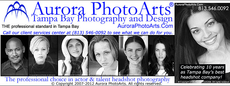 Tampa Headshot Photography. Aurora PhotoArts. The professional choice in headshot photography services. Tampa Bay, Florida.